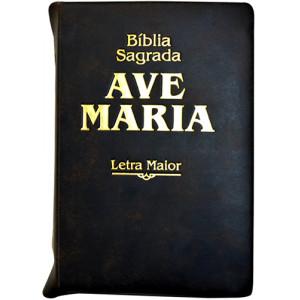 Bíblia Sagrada Ave-Maria – Ziper – Letra Maior – Indíce - Marrom