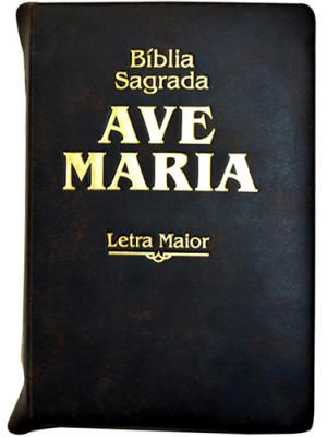 Bíblia Sagrada Ave-Maria – Ziper – Letra Maior – Marrom