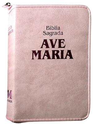 Bíblia Sagrada Ave-Maria – Zíper Strike – Rosa