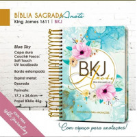 Bíblia King James 1611 - Anote - Espiral - Capa Dura - Blue Sky (King James)