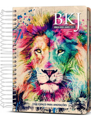 Bíblia King James 1611 - Anote - Espiral - Capa Dura - Lion Colors (King James)