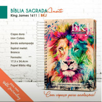 Bíblia King James 1611 - Anote - Espiral - Capa Dura - Lion Colors (King James)