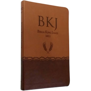 Bíblia King James - 1611 - Ultrafina – Marrom (King James)