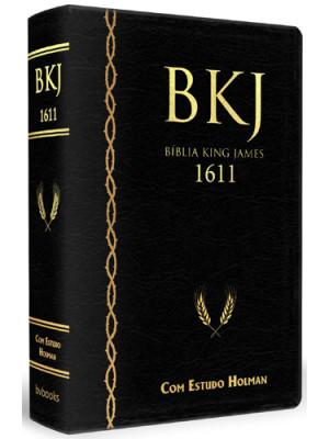 Bíblia King James 1611 Com Estudo Holman - Preta (King James)