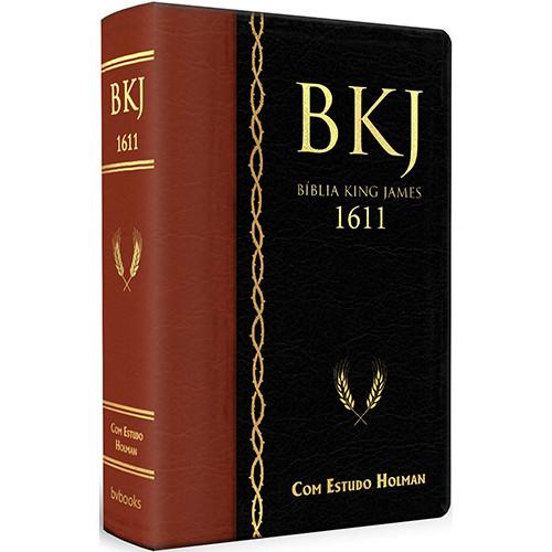 Bíblia King James 1611 Com Estudo Holman - Preta e Marrom (King James)