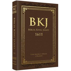 Bíblia King James 1611 Com Concordância - Luxo - Marrom (King James)