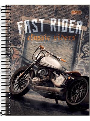 Caderno Universitário - 12 Matérias - Fast Rider 1