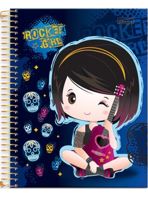 Caderno Universitário - 12 Matérias - Rocker Girl 2