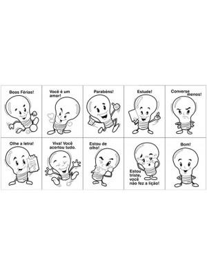 Carimbo Psicoavaliação - Lâmpada - 10 Peças
