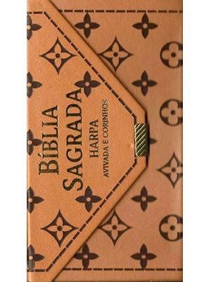 Bíblia Sagrada Carteira Com Harpa - Avivada e Corinhos - RC - Marrom