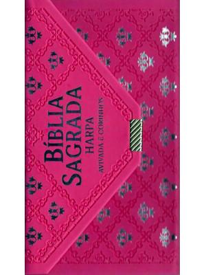 Bíblia Sagrada Carteira Com Harpa - Avivada e Corinhos - RC - Pink
