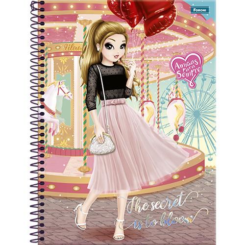 Caderno Universitário - 10 Matérias - Amigas Para Sempre 1