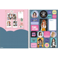 Caderno Universitário - 15 Matérias - Amigas Para Sempre 3