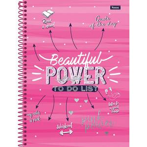 Caderno Universitário - 12 Matérias - Pink Power 1