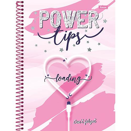 Caderno Universitário - 12 Matérias - Pink Power 2