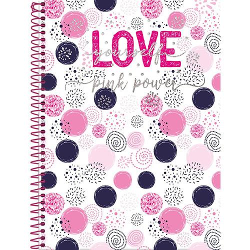 Caderno Universitário - 12 Matérias - Pink Power 4