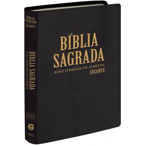 Biblia Sagrada - Letra Gigante - ARC - Semi Luxo - Preta (João Ferreira de Almeida)