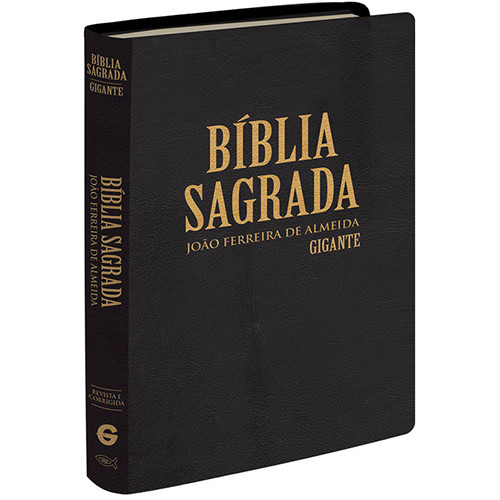 Biblia Sagrada - Letra Gigante - ARC - Semi Luxo - Capa Dura – Preta (João Ferreira de Almeida)