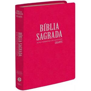 Biblia Sagrada - Letra Gigante - ARC - Semi Luxo - Capa Dura – Rosa (João Ferreira de Almeida)