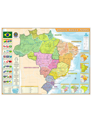Mapa Geográfico - Brasil Nossa Terra