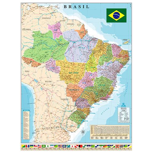 Mapa Geográfico - Brasil Político e Rodoviário