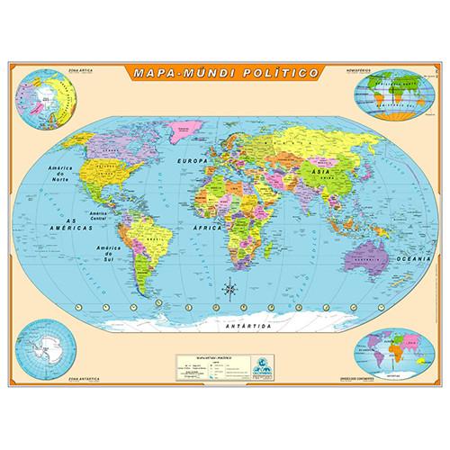 Mapa Geográfico - Mapa-Múndi Político