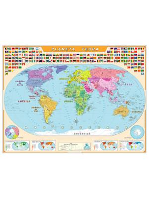 Mapa Geográfico - Mapa-Múndi Planeta Terra