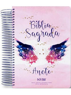 Bíblia Sagrada - Anote - Espiral - Capa Dura - NVI - Asas do Pensamento