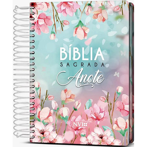 Bíblia Sagrada - Anote - Espiral - Capa Dura - NVI - Magnólia