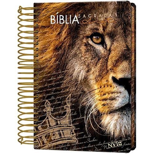 Bíblia Sagrada - Anote - Espiral - Capa Dura - NVI - Leão Judá (João Ferreira de Almeida)