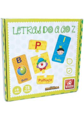 Letras do A ao Z - Madeira - 78 Peças
