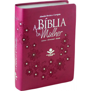 A Bíblia da Mulher - Letra Normal - ARC - Vinho