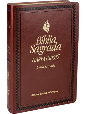Bíblia Sagrada Com Harpa Cristã - Letra Grande - RC - Marrom