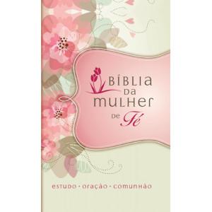 A Bíblia da Mulher de Fé - NVI - Flores (Sheila Walsh)