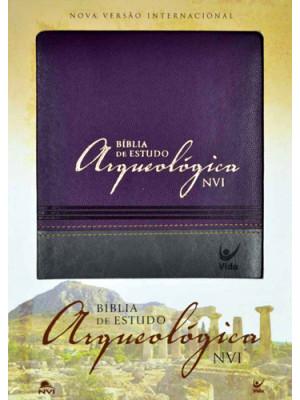 Bíblia de Estudo Arqueológica - NVI - Luxo - Vinho e Cinza